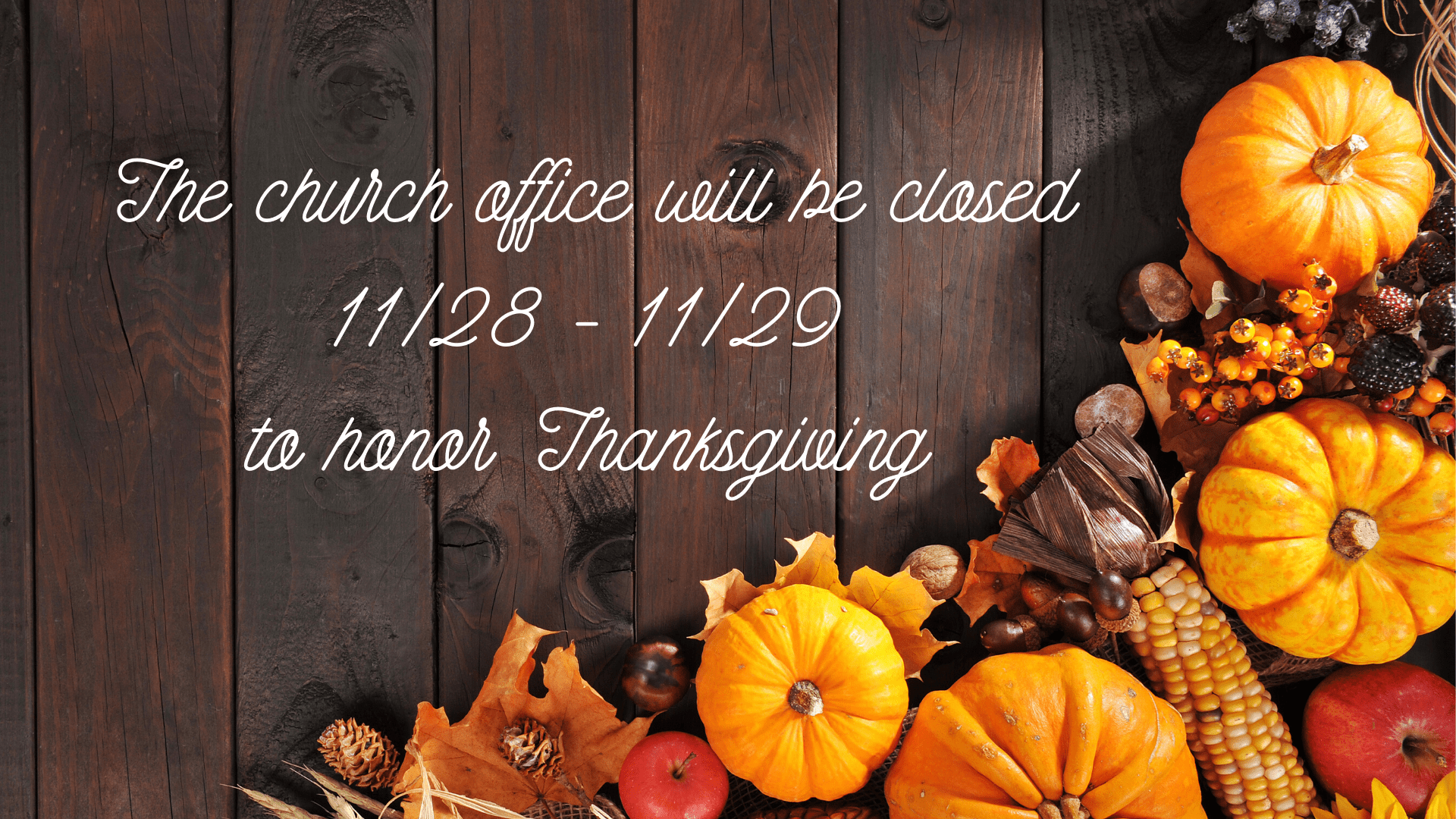 Thanksgiving Holiday Slide