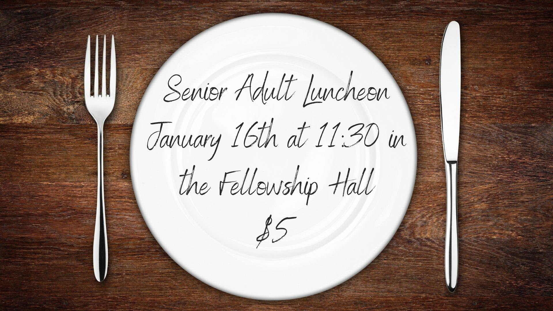 Senior Adult Luncheon