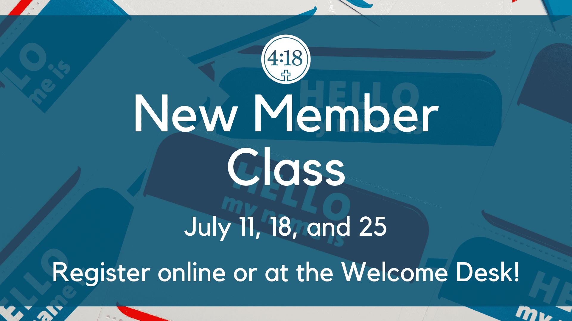 New Member class banner