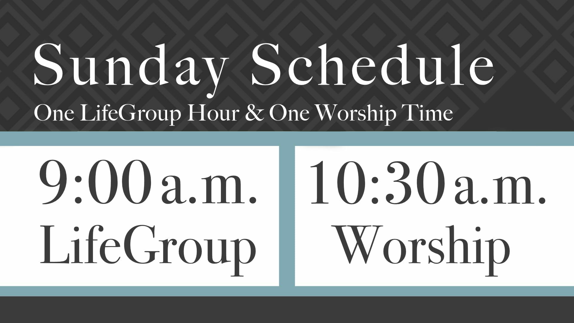 new sunday schedule